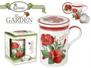 Floral Mug with Infuser - Royal Garden - Hibiscus